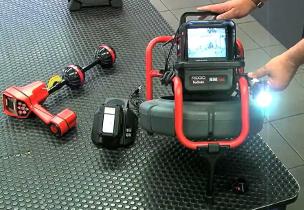 Έλεγχος σωληνώσεων με κάμερα στην Πεντέλη